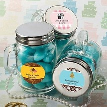 36 Personalized Mason Jar Wedding Favors Baby Bridal Shower Event Reception Lot - $68.29