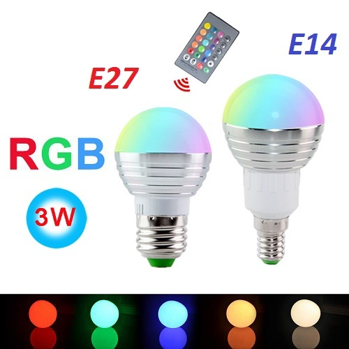 12Sets E27 RGB Color Changing LED Spot Light Lamp Bulb 85-265V & Remote (DHL) for sale  USA