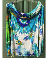 BLUMARINE WATERCOLOR SILK KNIT COLD SHOULDER TUNIC TOP (NWT) SZ 44 - $148.00