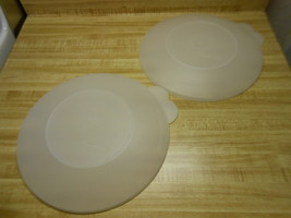 tupperware lids for the tupperware divided dinner plates ~ 2 lids only ~ - $12.69