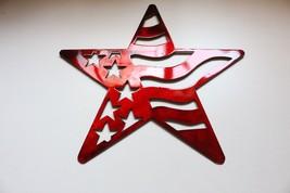 "Stars and Stripes Barn Star Metal Wall Art Decor/Wall Hanging Red 14"" - $26.72"