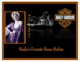 Marilyns Harley Dream Cycle 13 x 10 in Vintage Motorcycle Ad Giclee CANV... - $19.95