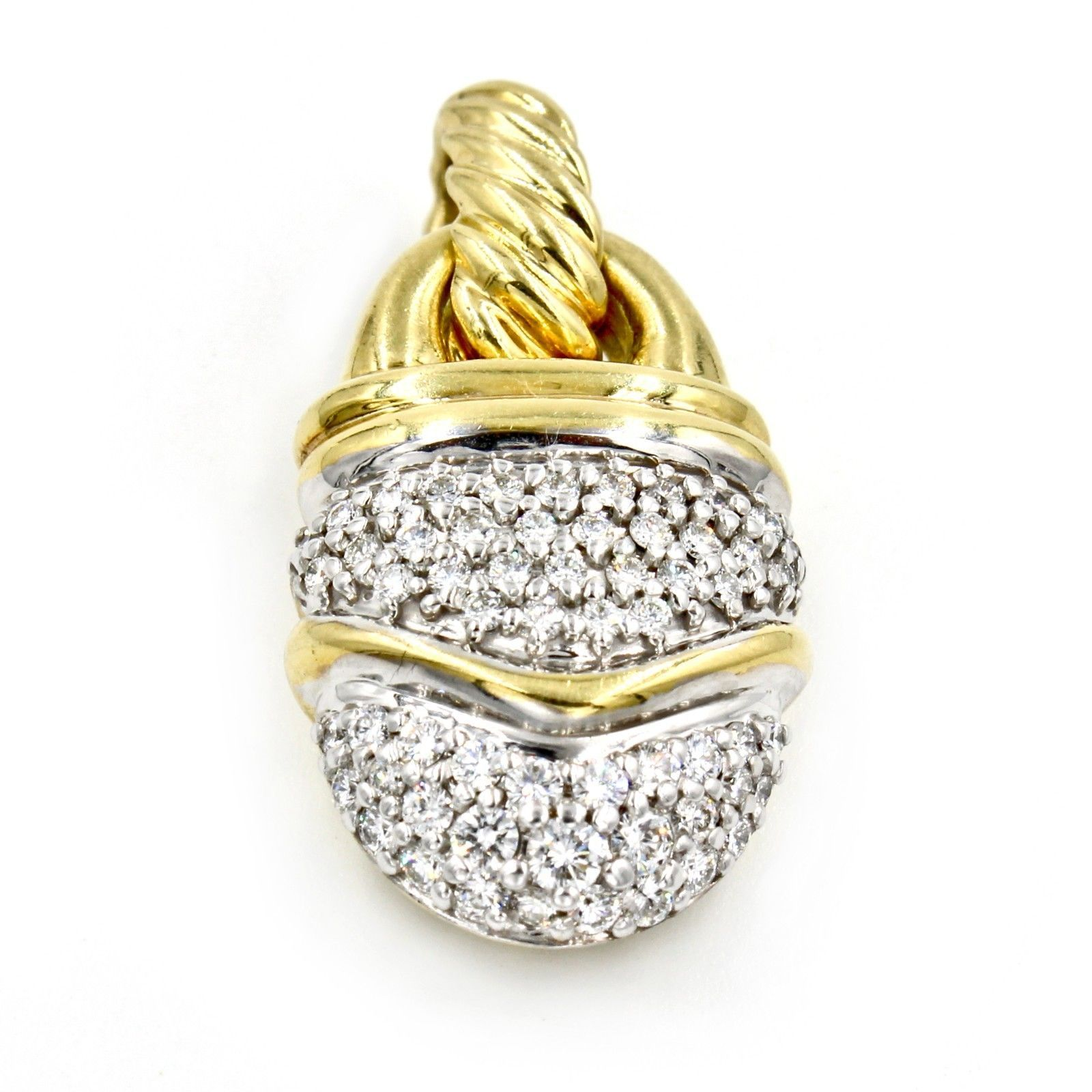 91f206ae0f8e70 57. 57. Previous. David Yurman Cable Classics Pave Diamond 18k Yellow Gold  Acorn Pendant. David Yurman ...