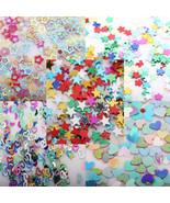 5000PCS Nail Art Mixed Glitter Heart Star Flower Sequins Stickers Decals... - $1.60