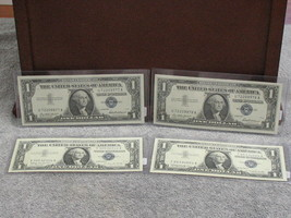 (4) ASSORTED $1 SILVER CERTIFICATES -GEM SPECIMANS- W/FREE SHIP - $45.95