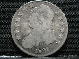 1831 CAPPED BUST HALF DOLLAR-DECENT SPECIMAN- FREE SHIPPING!! - $74.95