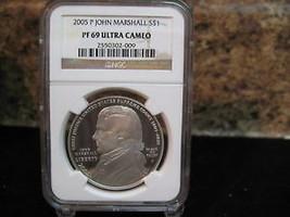 2005-P JOHN P MARSHALL DOLLAR-NGC PF69 - $60.95
