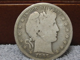 1897-S BARBER HEAD HALF DOLLAR-FAIR CONDITION-FREE SHIP - $155.00