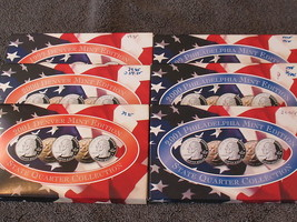 (6) STATE QUARTER SETS-PHILLY/DENVER MINTS-1999 TO 2002-FREE SHIP. - $51.95