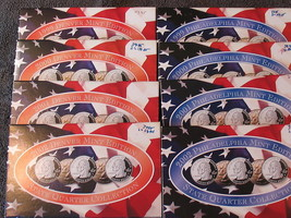 (8) STATE QUARTER SETS-PHILLY/DENVER MINTS-1999 TO 2002-FREE SHIP. - $68.95