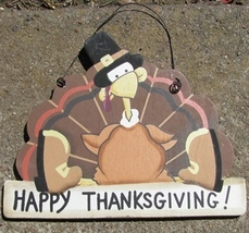 Wood Sign 1370 - Happy Thanksgiving  - $2.95