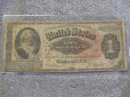 1886 $1 US LARGE SILVER CERTIFICATE F-218- DECENT SPECIMAN-FREE SHIPPING... - $315.00