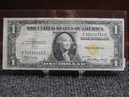 1935A $1 YELLOW SEAL SILVER CERTIFICATE - NICE  SPECIMAN - FREE SHIPPING! - $89.00