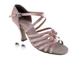 """Very Fine Ladies Women Ballroom Dance Shoes EK1650 Brown Satin 3"""" Heel (9M) - $64.95"""