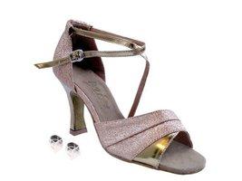 Very Fine Ladies Women Ballroom Dance Shoes EK1659 Gold Stardust & Gold Leath... - $64.95