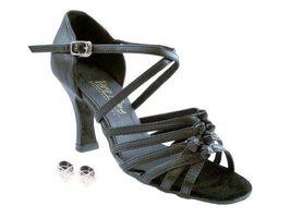 "Very Fine Ladies Women Ballroom Dance Shoes EK1650 Black Leather 3"" Heel (6.5M) - $64.95"