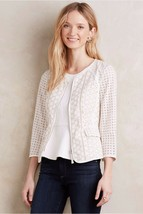 Nwt Anthropologie Mezcla Eyelet Peplum Jacket By Elevenses - $113.99