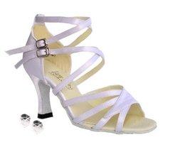 "Very Fine Ladies Women Ballroom Dance Shoes EK1662B White Satin 2.5"" Heel (8M) - $64.95"