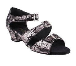 Very Fine Ladies Women Ballroom Dance Shoes EK1679LED Limited Black Flow... - $65.95