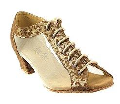 Very Fine Ladies Women Ballroom Dance Shoes EK1643LED Limited Copper Vel... - $65.95