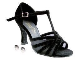 Very Fine Ladies Women Ballroom Dance Shoes EK16612 Black Nubuck & Black... - $64.95