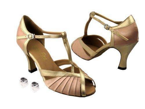 Very Fine Ladies Women Ballroom Dance Shoes EK2707 White Satin & Silver Trim ...