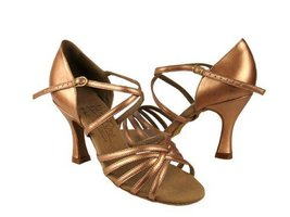 "Ladies' Latin Rhythm Salsa Signature S9216 Copper Nude Leather 3"" Heel (8.5M) - $75.95"