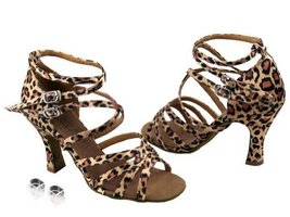"Very Fine Ladies Women Ballroom Dance Shoes EK5008 Leopard 3"" Heel (5.5M) - $64.95"
