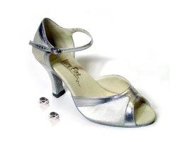 Very Fine Ladies Women Ballroom Dance Shoes EK6024 White Satin & Silver Trim ... - $64.95