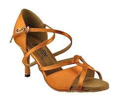 Very Fine Ladies Women Ballroom Dance Shoes EK2737 LED Limited Dark Tan ... - $65.95