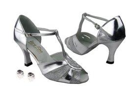 Very Fine Ladies Women Ballroom Dance Shoes EK2702 Silver Stardust & Sil... - $64.95