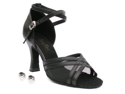 "Very Fine Ladies Women Ballroom Dance Shoes EK5017 Leopard & Flesh Mesh 2.5"" ..."