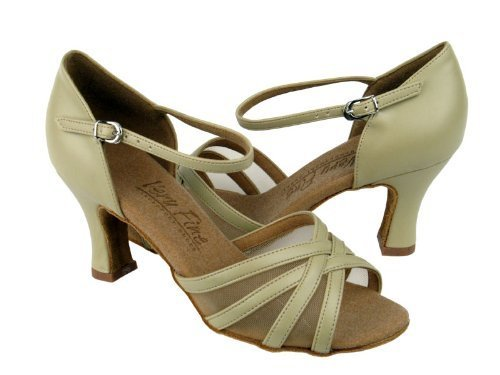 "Primary image for Ladies' Latin Rhythm Salsa C6027 Beige Leather & FM 3"" Heel (10)"