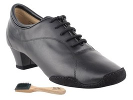 Very Fine Ladies Women Ballroom Dance Shoes EKCD1121 Split Sole Black Leather... - $79.95
