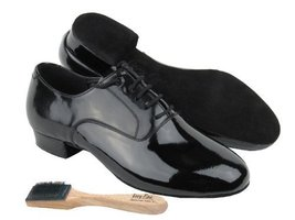 "Men Ballroom Dance Shoes from Very Fine C919101 with Shoe Brush 1"" Heel ... - $79.95"