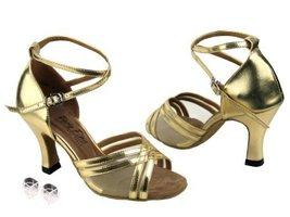 Very Fine Ladies Women Ballroom Dance Shoes EK5017 Gold Leather & Flesh Mesh ... - $64.95