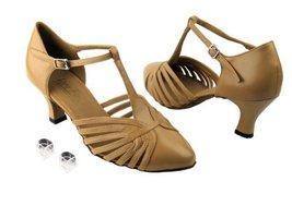 """Very Fine Ladies Women Ballroom Dance Shoes EK6829 Beige Brown Leather 2.5"""" H... - $64.95"""