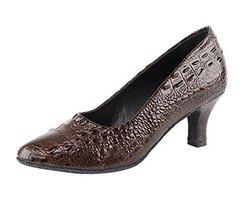 Very Fine Ladies Women Ballroom Dance Shoes EKSA5513 Coffee Brown Croc 2... - $65.95