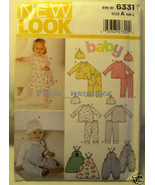 6331 NB - Large Baby Boy Girl Top Pants Bibs Hat Uncut - $2.79