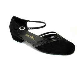 Very Fine Ladies Women Ballroom Dance Shoes EK8881 Black Nubuck & Black ... - $64.95