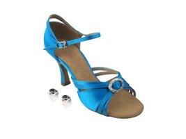 "Very Fine Ladies Women Ballroom Dance Shoes EKSA1154 Blue Satin 3"" Heel (7M) - $65.95"
