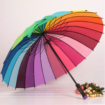 New Attractive Multicolour Women ladies Umbrella Genuine Rainbow Color U... - $29.00