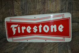 Vintage 1960's Firestone Tires Gas & Oil Metal Sign - $433.51