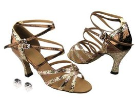 Very Fine Ladies Women Ballroom Dance Shoes EK5008Mirage Rainbow Sparkle & Sn... - $64.95