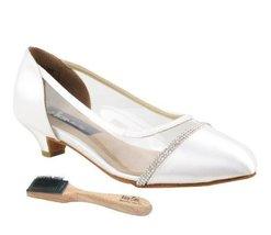 "Very Fine Ladies Women Ballroom Dance Shoes EKCD5502 White Satin 1.1"" He... - $79.95"