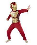 Marvel Avengers Iron Man 3  Costume Mask & Jumpsuit Outfit Boy Kid 4/6x - $22.27