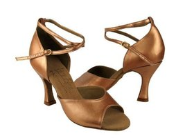 "Ladies' Latin Rhythm Salsa Signature S9220 Copper Nude Leather 3"" Heel (... - $75.95"