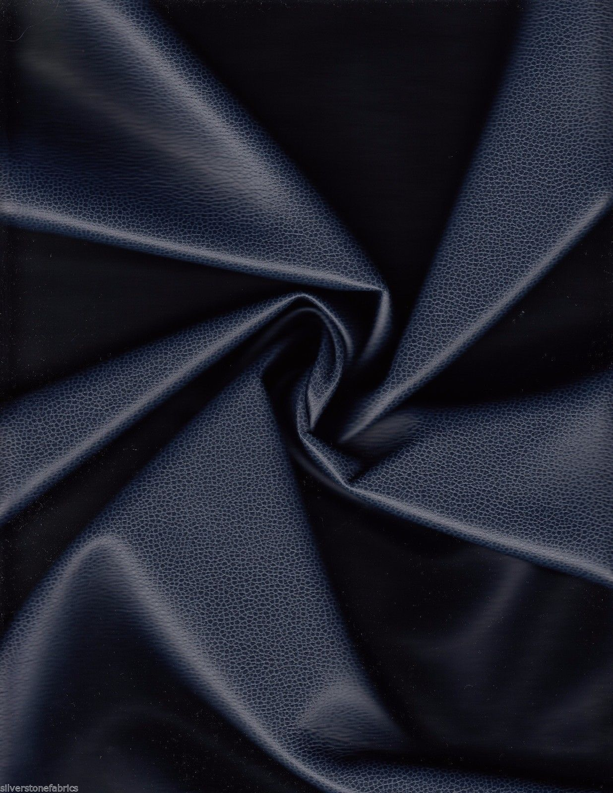 Ultrafabrics Upholstery Fabric Promessa Faux Leather Atlantic Blue 1.625 yds T16