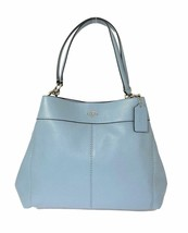 NWT Coach F28997 Lexy Pebble Leather Shoulder Bag handbag Cornflower Sky... - $159.99