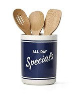 Kate Spade All in Good Taste Orders Up Utensil Crock with Acacia Wood Ut... - $23.76